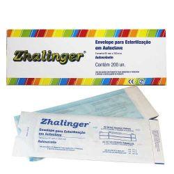 Envelopes Para Esterilização em Autoclave - Zhalinger - Cx com 200 un