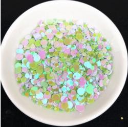 Glitter Flocado Para Encapsular Unhas - 3g - Mix White L Green