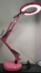 Luminária Led - Flexivel de Mesa  - Ring Light  com Usb - Rosa