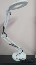 Luminária Led - Flexivel de Mesa  - Ring Light  com Usb - Branca