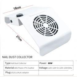Coletor Aspirador Pó Unhas Nail Dust Speed 80w  - Bivolt
