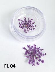 Flor Seca para Decoração de Unhas -  1 Par - FL04 -Lilas