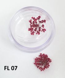 Flor Seca para Decoração de Unhas -  1 Par - FL07 - Pink