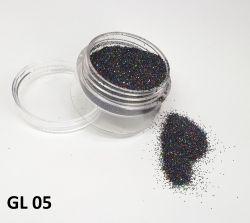 Glitter Holográfico  Ultrafino - 3g - GL05 - Preto