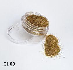 Glitter Holográfico Ultrafino - 3g - GL09 - Dourado