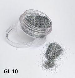 Glitter Holográfico Ultrafino  - 3g - GL10 - Prata