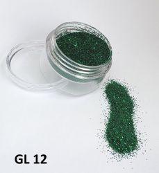 Glitter Ultrafino - 3g - GL12 - Vede Escuro