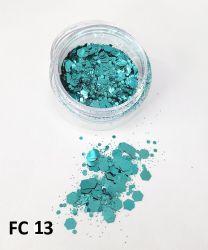 Glitter Flocado Hexagonal Grande Para Encapsular Unhas - 3g - FC13 - Verde