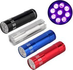 Mini Lanterna Portátil Led - Metalizada - Seca Unha Gel Uv - 9w - Cores Sortidas