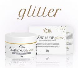VÒLIA - Gel Classic Nude GLITTER - 24g - LANÇAMENTO