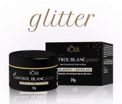 VÒLIA - Gel Control Blanc GLITTER - 24g - LANÇAMENTO
