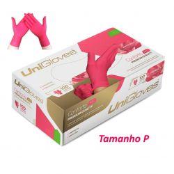 UNIGLOVES - Luvas Látex Red Cereja Sem Pó - Tamanho P - Conforto Premium Quality -  100 Un