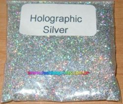 Glitter Holográfico Superfino .08 - 25g - Prata